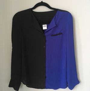 Vero Moda black and blue blouse size S